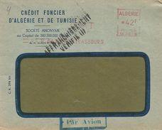 """Algerie Algeria 1952 Alger-Strasbourg CFAT Havas """"CG"""" 3815 EMA Meter Cover - Algerije (1924-1962)"""
