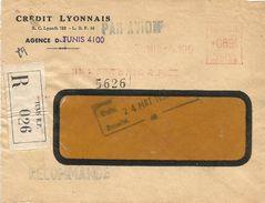 "Tunisie Tunisia 1952 Tunis Credit Lyonnais Havas ""CG"" 4149 EMA Meter Cover - Tunesië (1888-1955)"