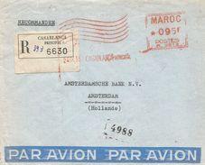 """Maroc Morocco 1955 Casablanca Havas """"M"""" 0813 EMA Meter Cover - Marokko (1891-1956)"""
