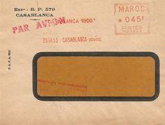 """Maroc Morocco 1953 Casablanca Bourse Havas """"MG"""" 0503 EMA Meter Cover - Brieven En Documenten"""