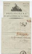 Héraldique Préfecture AMIENS An 8 - 1799/1800 - Manuscritos