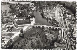 CHATEAUNEUF SUR CHARENTE - Le Pont Sur La Charente Et La Gare, Vue Aérienne - Chateauneuf Sur Charente