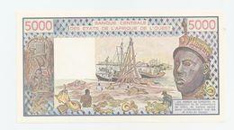 5000 Francs, Cote D'Ivoire, 1990 - Costa D'Avorio