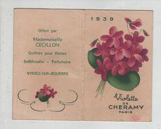 Calendrier Virieu Sur Bourbre Cécillon Coiffure1939 Violette De Chéramy - Calendarios