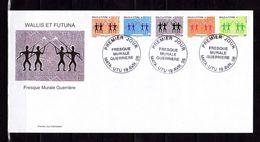"""Enveloppe 1er Jour De 2005 """" FRESQUE MURALE GUERRIERE """" N° YT 635 à 639. Parfait état. - FDC"""