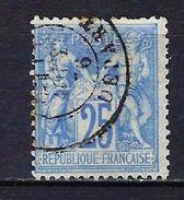 """FR YT 68 """" Sage 25c. Outremer """" CAD Départ - 1876-1878 Sage (Type I)"""