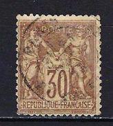 "FR YT 69 "" Sage 30c. Brun "" CAD Paris - 1876-1878 Sage (Type I)"