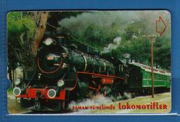 (E.Sm) TURKEY - 2000- TELEKOM - 30 U. ZAMAN TUNELINDE - LOKOMOTIFLER  .vedi Descrizione. - Turkije