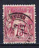 """FR YT 71 """" Sage 75c. Carmin """" CAD Province - 1876-1878 Sage (Type I)"""