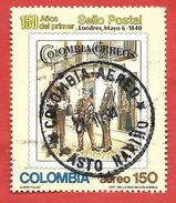 COLOMBIA USATO - 1990 - 150° Anniversario Del 1° Francobollo - First Postage Stamp -  150 $ - Michel CO 1794 - Colombia
