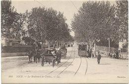 06 - NICE - Le Boulevard De Cimiez - Belle Animation Tram, Calèches - Straßenverkehr - Auto, Bus, Tram