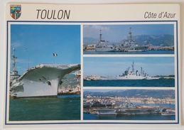 TOULON - Les Bateaux De Guerre - Porte-Avions Clémenceau - Dupleix D641 - Montcalm D642 - Colbert C611 - Guerra