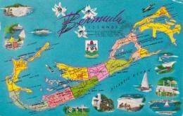Map Of The Bermuda Islands 1960 - Maps