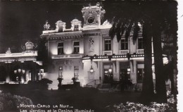 Monaco Monte Carlo Casino And Gardens At Night 1954 Photo - Casino