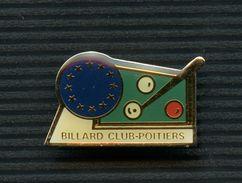 JOLI PIN'S - SPORTS SPORT - BILLARD - CLUB POITIERS 86 - Billiards