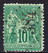 "FR YT 76 "" Sage 10c. Vert "" GC 384 BEAUMONT-DU-GATINAIS - 1876-1898 Sage (Type II)"