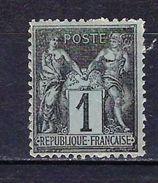 "FR YT 83 "" Sage 1c. Noir S. Azuré "" Neuf* - 1876-1898 Sage (Type II)"