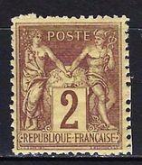 "FR YT 85 "" Sage 2c. Brun-rouge "" Neuf* - 1876-1898 Sage (Type II)"