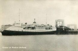 NETHERLANDS - Groeten Uit Breskens (hooland) RPPC - Ferry - Fähren