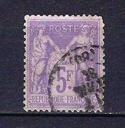 """FR YT 95 """" Sage 5F. Violet """" CAD Province - 1876-1898 Sage (Type II)"""