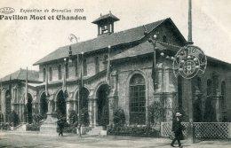 BELGIUM - Pavillon Moet Et Chandon - Exposition De Bruxells 1910 - Superb Postmark - Exhibitions