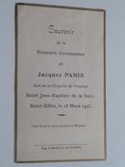 Jacques PANIS Saint Jean-Baptiste De La Salle Saint Gilles Le 18 Mars 1923 ( Zie Foto's ) ! - Communion