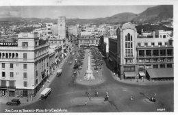 SPAIN - Canary Isles- RPPC Santa Cruz De Tenerife - Plaza De La Candelaria - Superb Old Buses Etc 1951 - Tenerife