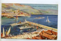 06 MONACO Ilustrateur Le Port Casino Et Le Tir Aux Pigeons 1910 Editeur Robaudy Cannes    /D22-2014 - Monaco