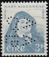 Ireland - Scott #167 Mary Aikenhead (1) / Used Perfin Stamp - 1949-... Republic Of Ireland