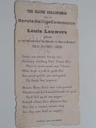 Louis LAUWERS Op 20 Mei 1909 I/h Pensionaat St. Joseph Te Bourg-Leopold ( Zie Foto's ) ! - Communion