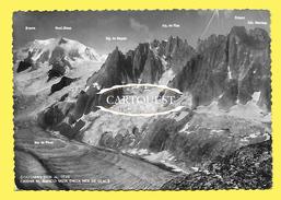 CPSM Courmayeur  CATENA M BIANCO VISTA MER DE GLACE - Italy