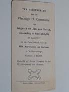 Augusta En Jan Van HERCK (Nijlen) Op 20 April 1917 I/d Kekr H.H. Martelaren Van Gorkum Te 's Gravenhage ( Zie Foto's ) ! - Communion