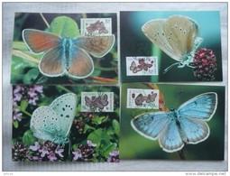 WWF Czech Tschechien Ceska Large Blue Butterflies Bläulinge 2002 CM MK MC Maxi Maximum Card Carte Maxicard Maximumkarte - Maximum Cards