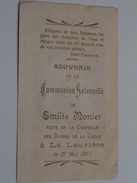Emilie MONIER Le 27 Mai 1917 à La Louvière La Chapelle Des Dames De La Croix ( Zie Foto's ) ! - Communion