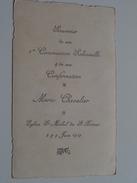 Marie CHEVALIER Eglise St. Michel De St. Brieux 8 & 9 Juin 1919 ( Zie Foto's ) ! - Communion
