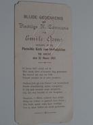 Emile OOMS Parochie Kerk Van St. Sulpicius Te DIEST Den 25 Meert 1917 ( Zie Foto's ) ! - Communion