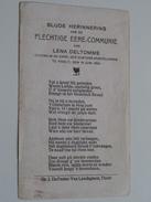 Eere-Communie LENA DELTOMME Kapel Zusters Der Apostelinnen Te THIELT Den 16 Juni 1924 ( Zie Foto's ) ! - Communion