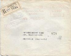 "Maroc Morocco 1955 Casablanca Bourse Credit Maghreb Havas ""MG"" 1362 EMA Meter Registered Cover - Marokko (1891-1956)"