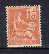 """FR YT 124 """" Mouchon Retouché 10c. Rose """" Neuf** - 1900-02 Mouchon"""