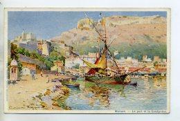 06 MONACO  LA CONDAMINE Illustrateur Casimir RAYMOND Le Port Bateau Peche 1910    D24-2014 - La Condamine
