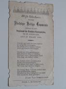 Jules Van STEENLANDT Pensionaat Der Broeders Hieronymieten Te St. Niklaas Den 15 Maart 1921 ( Zie Foto's ) ! - Communion
