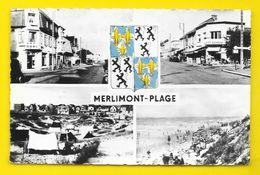 MERLIMONT PLAGE Vues Diverses Et Blason (LUC) Pas De Calais (62) - Other Municipalities