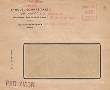"""Maroc Morocco 1952 Casablanca Havas """"CG"""" 4238 EMA Meter Cover - Marokko (1891-1956)"""