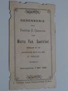 Maria Van SANTVLIET Parochiale Kerk Van Den H. Paulus Antwerpen 7 Mei 1922 ( Zie Foto's ) ! - Communion