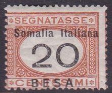Italy-Colonies And Territories-Somalia D33 1923 Postage Due Stamp,20c Orange And Black Value In Besa, MH - Somalia