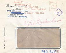 """Maroc Morocco 1956 Casablanca Havas """"CG"""" 4238 EMA Meter Cover - Brieven En Documenten"""