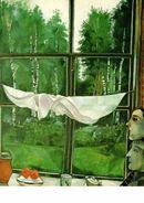 Marc Chagall - Fenêtre à La Campagne, 1915 - Peintures & Tableaux