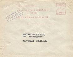 """Maroc Morocco 1952 Casablanca Bourse Havas """"CG"""" 1073 EMA Meter Cover - Marokko (1891-1956)"""