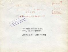 """Maroc Morocco 1954 Casablanca Bourse Havas """"CG"""" 1073 EMA Meter Maroc Mutilated Cover - Brieven En Documenten"""