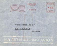 """Maroc Morocco 1953 Casablanca Havas """"K"""" 0514 EMA Meter Cover - Brieven En Documenten"""